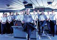 Deck officers on cruise ship
