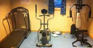 Crew Gym on cruise ship