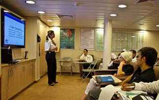 Human resource department on cruise ship