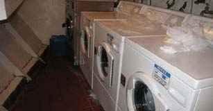 Crew Laundry on cruise ship