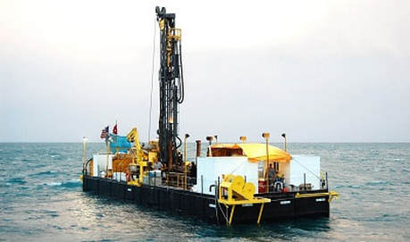 Drilling barge